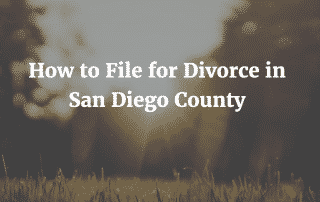 How to File for Divorce in San Diego County