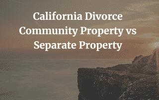 Community Separate Property California