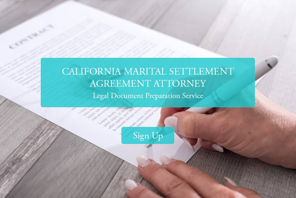 California marital settlement agreement final judgment for Legal document preparer training