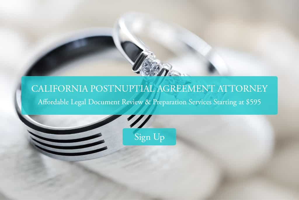 California Postnuptial Agreement Attorney